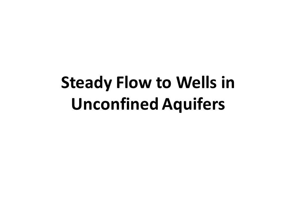 Pump Test in Confined Aquifers Theis Method