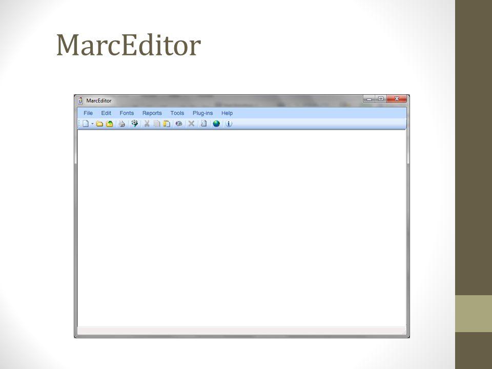 MarcEditor