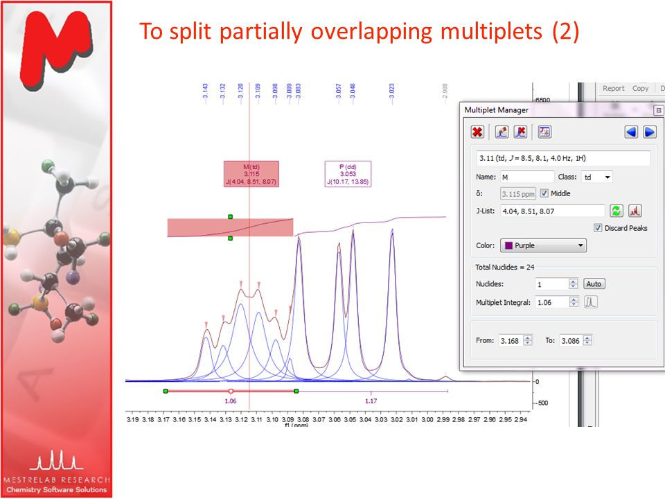 To split partially overlapping multiplets (2)