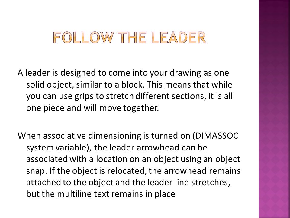 IconCommandDescription MultileaderCreates a single multileader object.