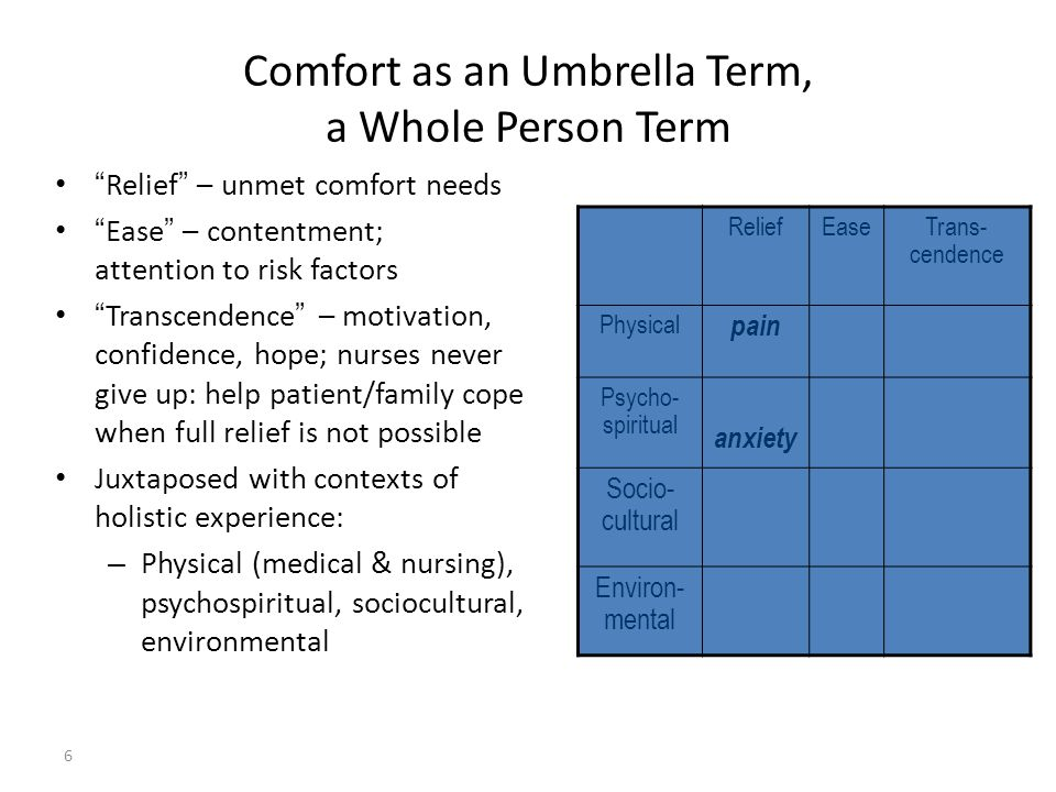 Envisioning Comfort Theory in Your Practice and Workplace Dr.