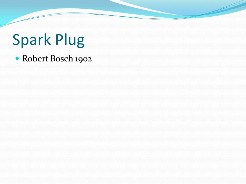 Spark Plug Robert Bosch 1902