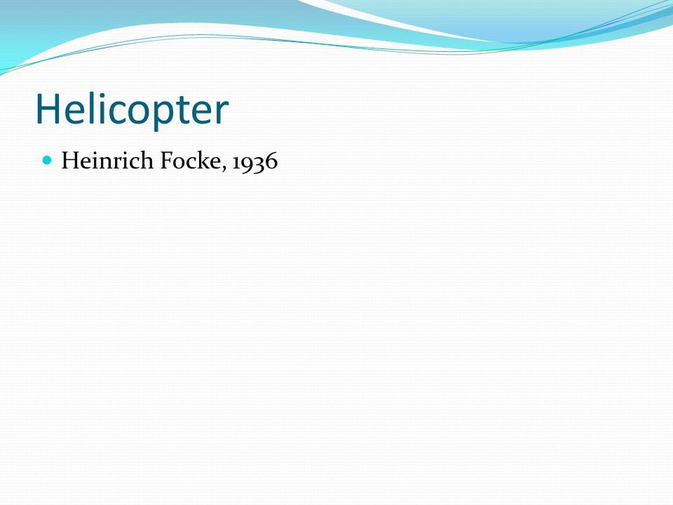 Helicopter Heinrich Focke, 1936