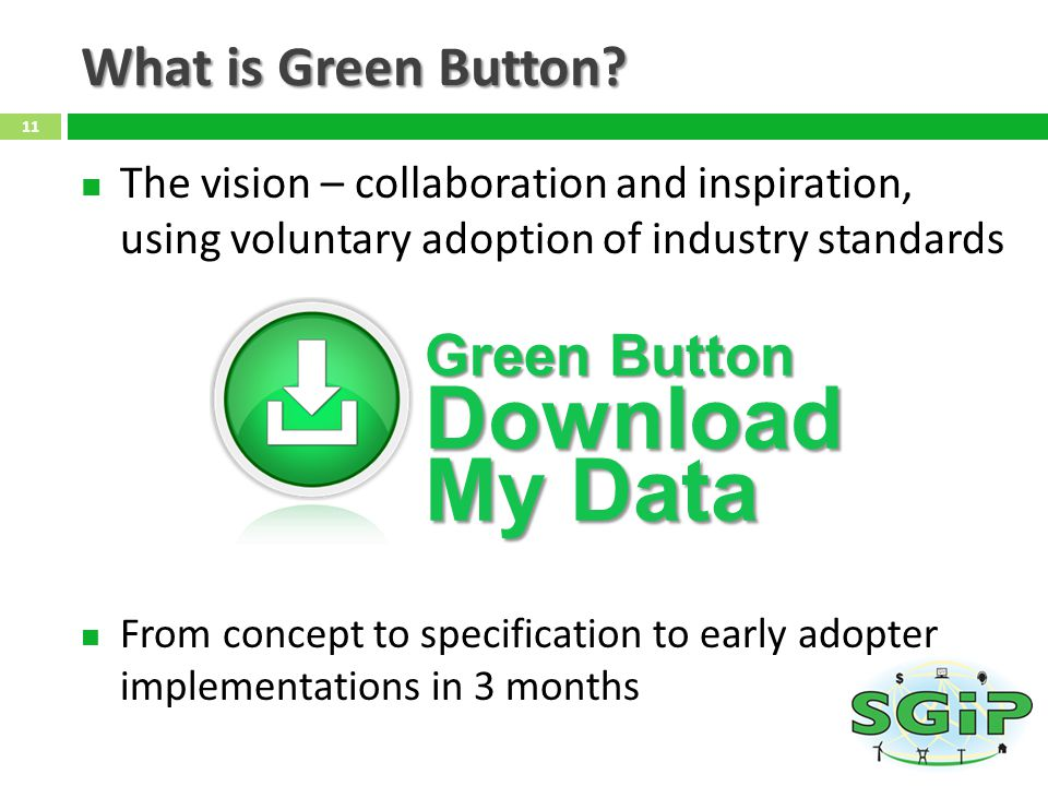What is Green Button.