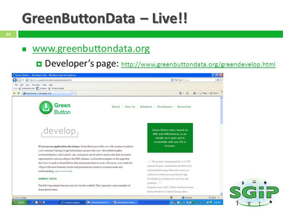 GreenButtonData – Live!.