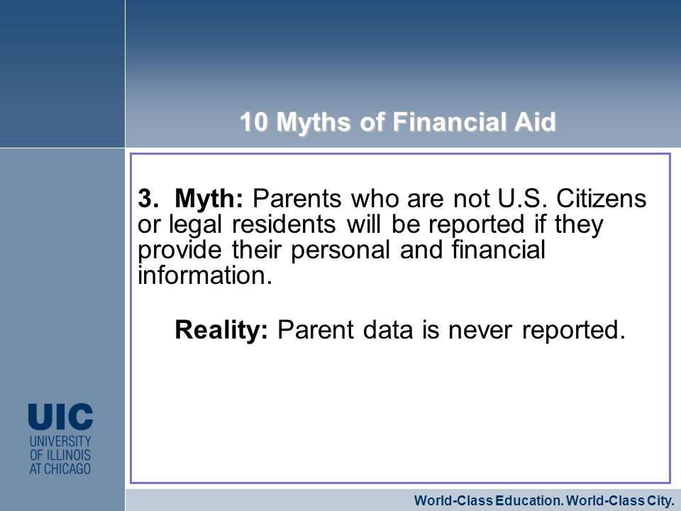 3. Myth: Parents who are not U.S.