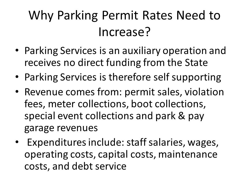 Why Parking Permit Rates Need to Increase.