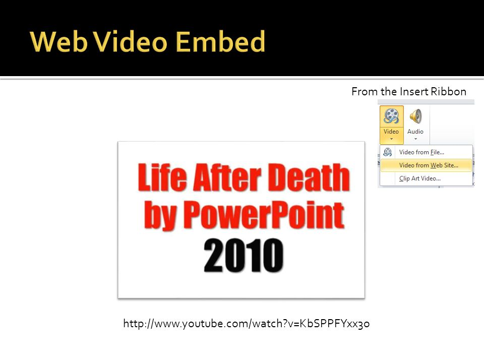 http://www.youtube.com/watch?v=KbSPPFYxx3o From the Insert Ribbon