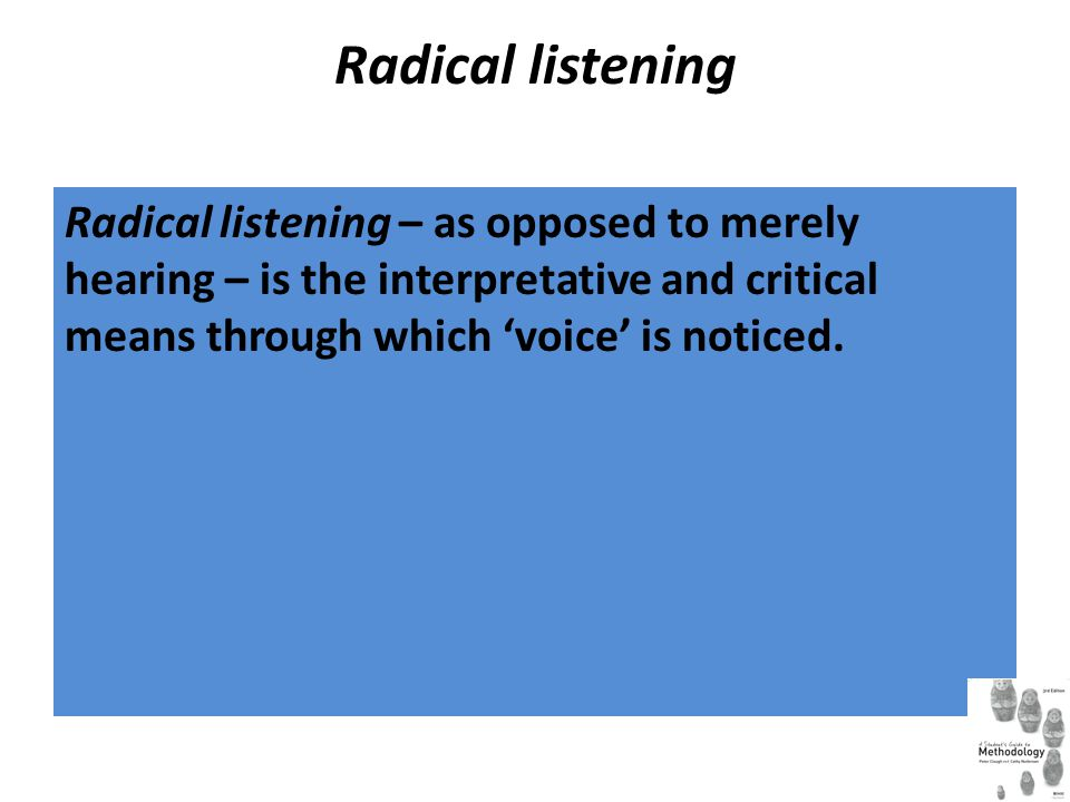 Radical reading Radical reading provides the justification for the critical adoption or rejection of existing knowledge and practices.