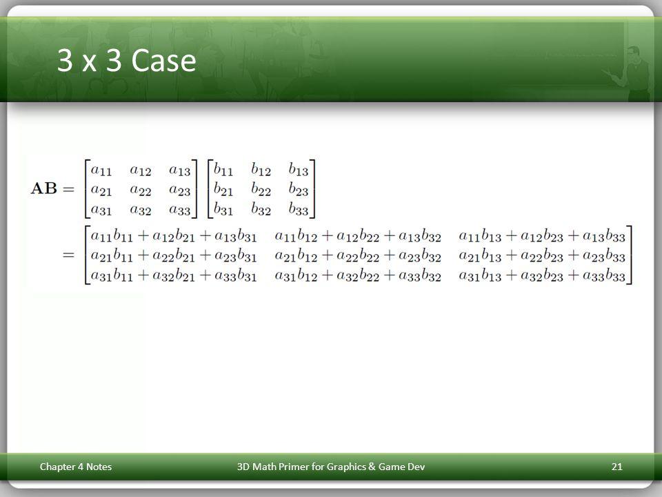 3 x 3 Case Chapter 4 Notes3D Math Primer for Graphics & Game Dev21