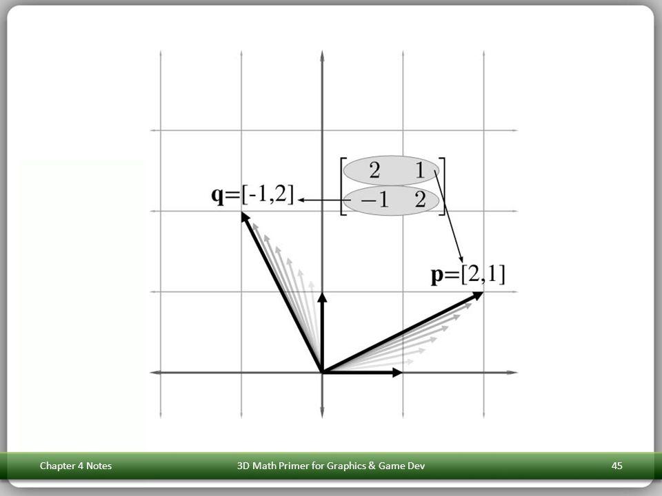 Chapter 4 Notes3D Math Primer for Graphics & Game Dev45
