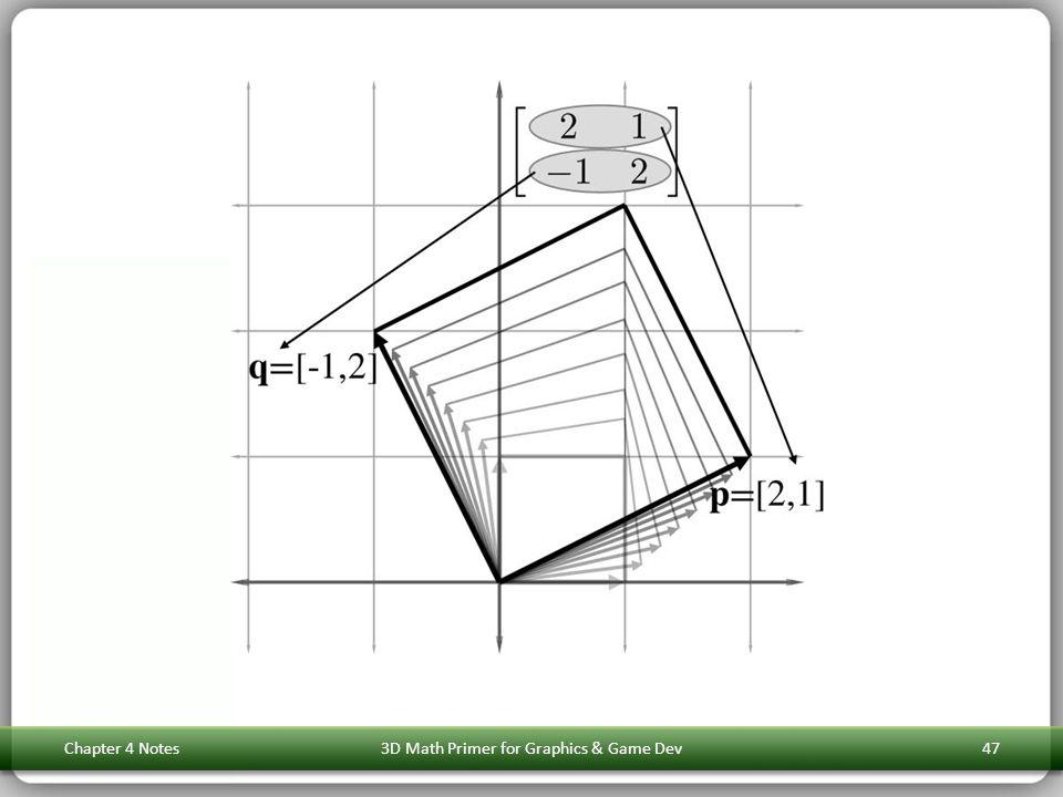 Chapter 4 Notes3D Math Primer for Graphics & Game Dev47