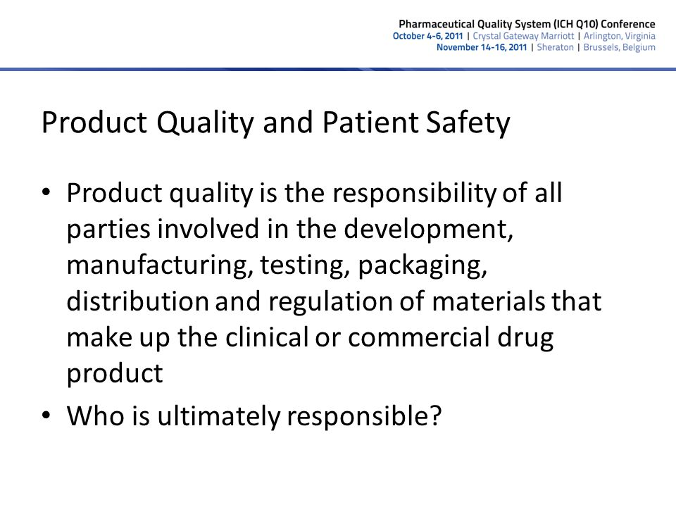 Criticality of Quality Culture The single most important indicator of a firms ability to consistently provide a quality service or product A firm can have all the SOPs, systems and controls required but, without quality culture, product quality and business continuity are not assured Must be measured as a separate element of due diligence – Managements attitude towards compliance and their engagement and proactive commitment to systemic problem resolution – Identification, trending and communication to employees of quality metrics – Willingness of employees to bring issues forward – Number of deviations from procedures or expected results Are there too many or too FEW.
