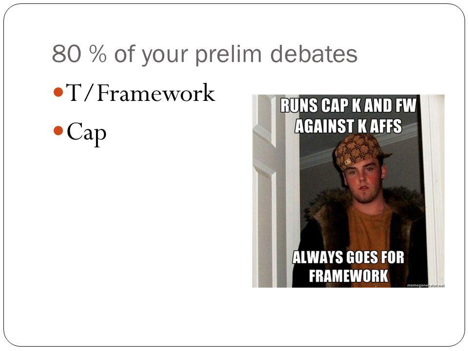 80 % of your prelim debates T/Framework Cap