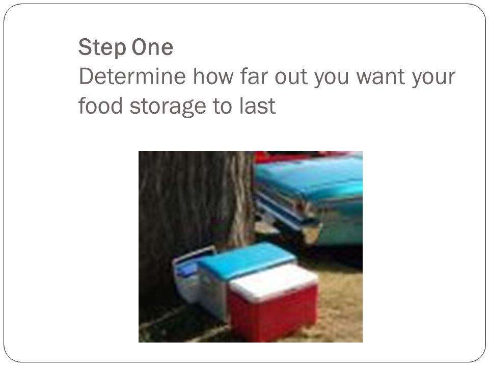 Food Storage Guidelines Do we need extra food in a work zone? Hopefully, you will have plenty food when there is an emergency. Here are five steps to
