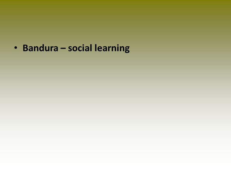 Bandura – social learning