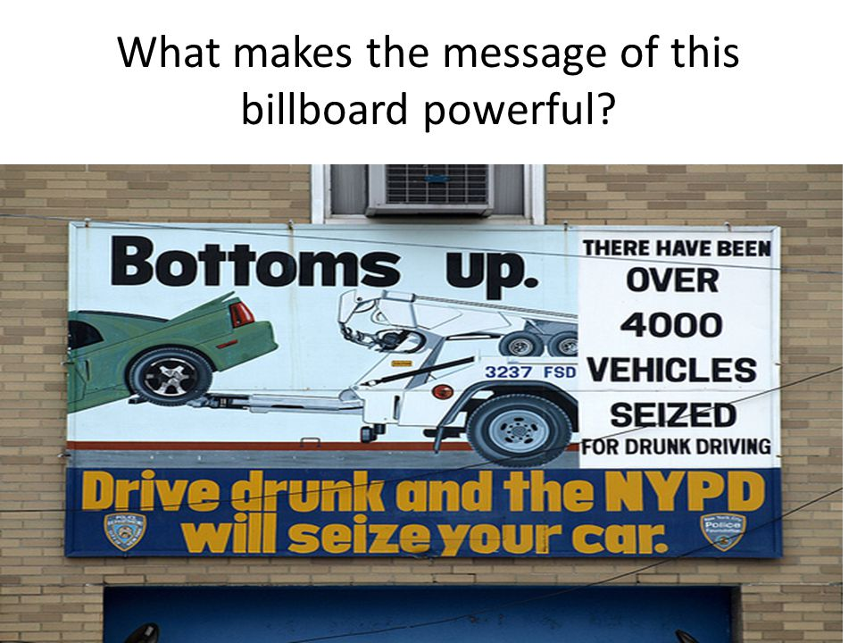 What makes the message of this billboard powerful?