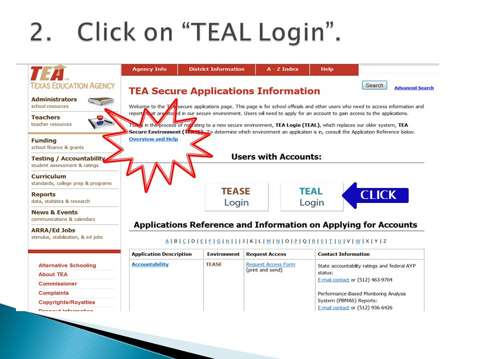 13.Enter your username and password from your OLD TEASE account and click Submit.