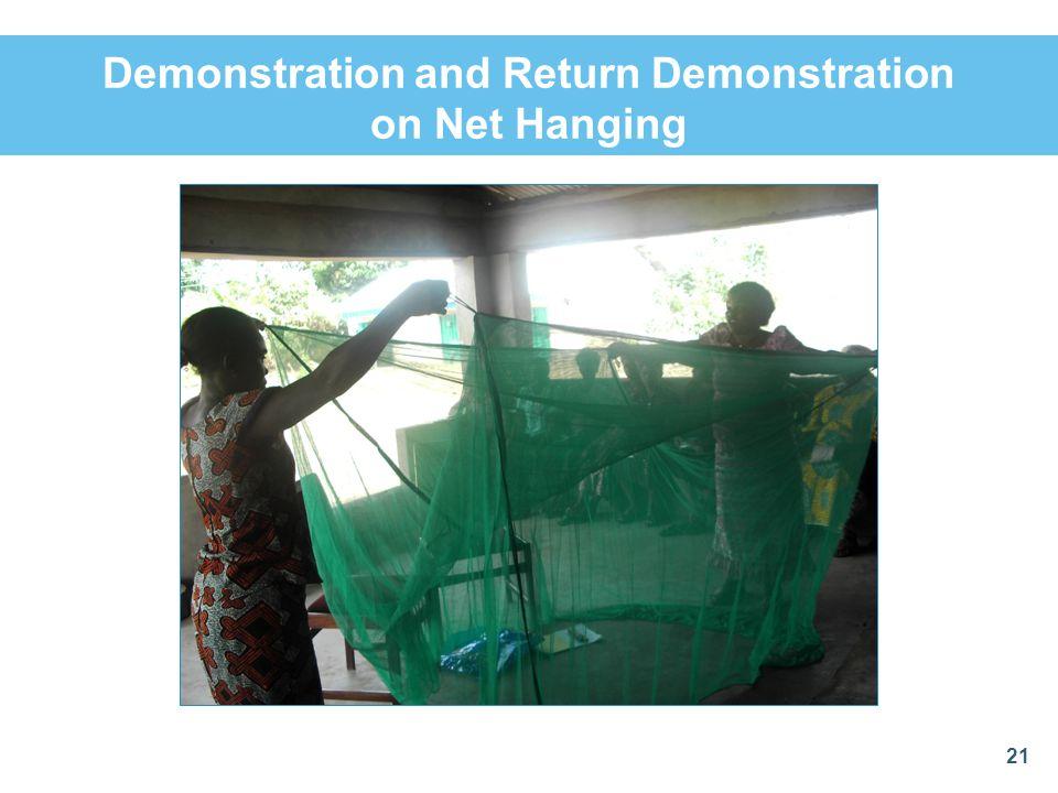 Demonstration and Return Demonstration on Net Hanging 21