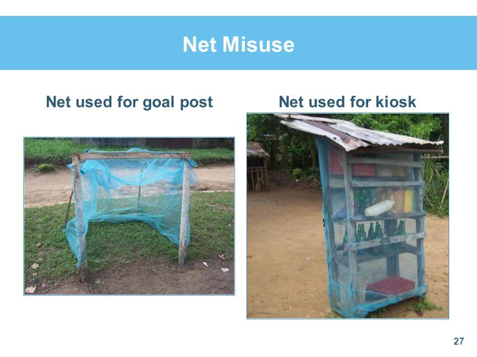 Net Misuse Net used for goal postNet used for kiosk 27