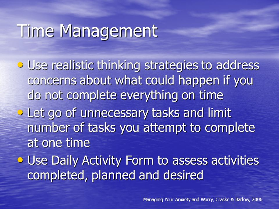 Boost Resources: Time Management