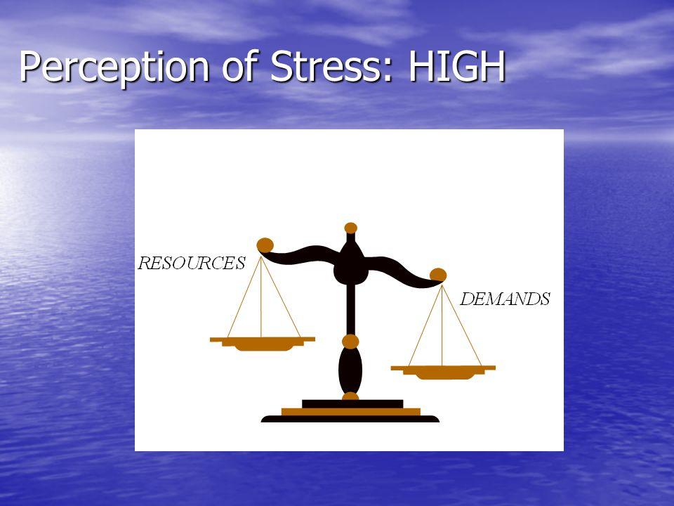 Perception of Stress: HIGH