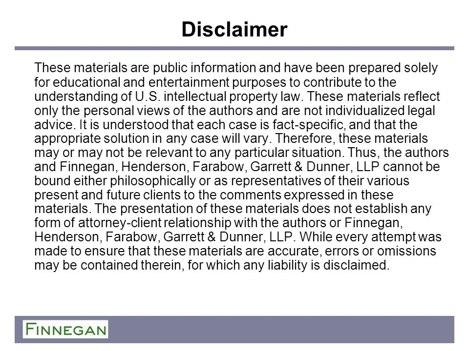 Disclaimer These materials are public information and have been prepared solely for educational and entertainment purposes to contribute to the unders