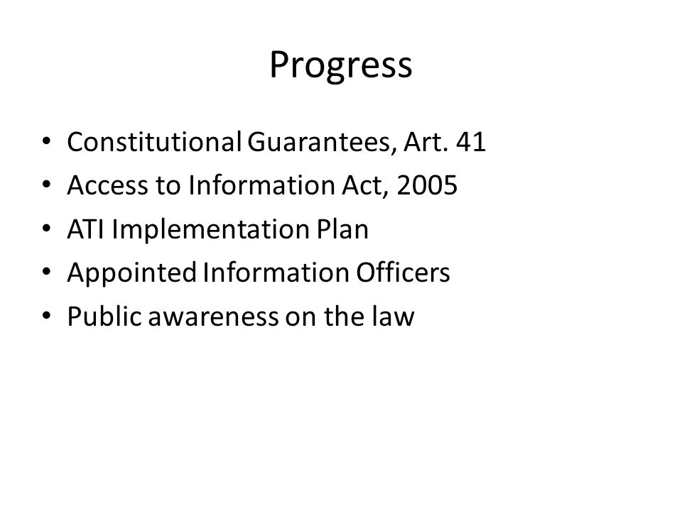 Progress Constitutional Guarantees, Art.
