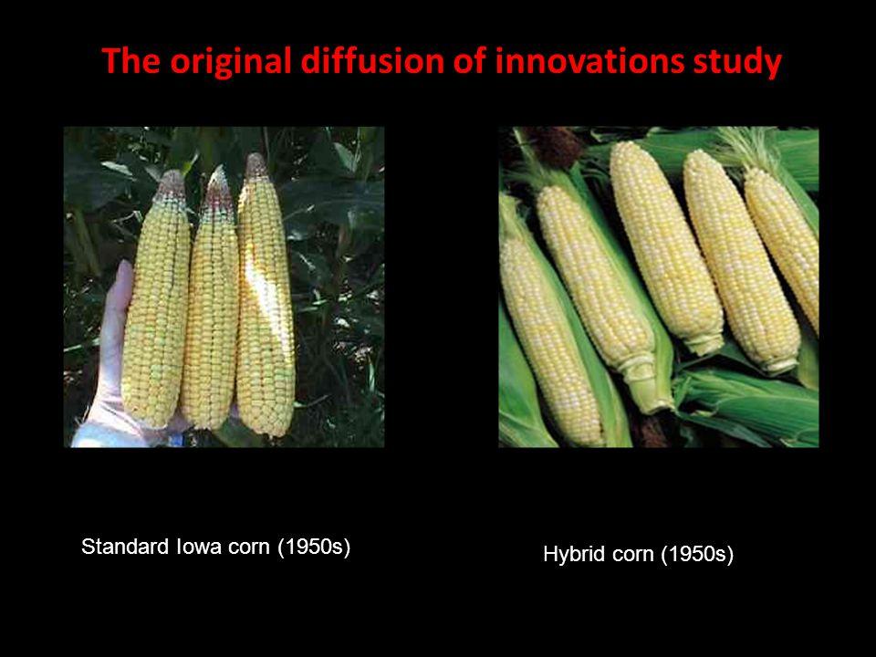 Standard Iowa corn (1950s) Hybrid corn (1950s) The original diffusion of innovations study