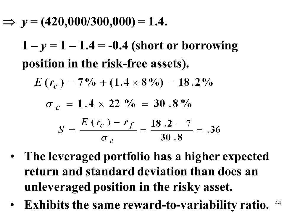 44 y = (420,000/300,000) = 1.4.