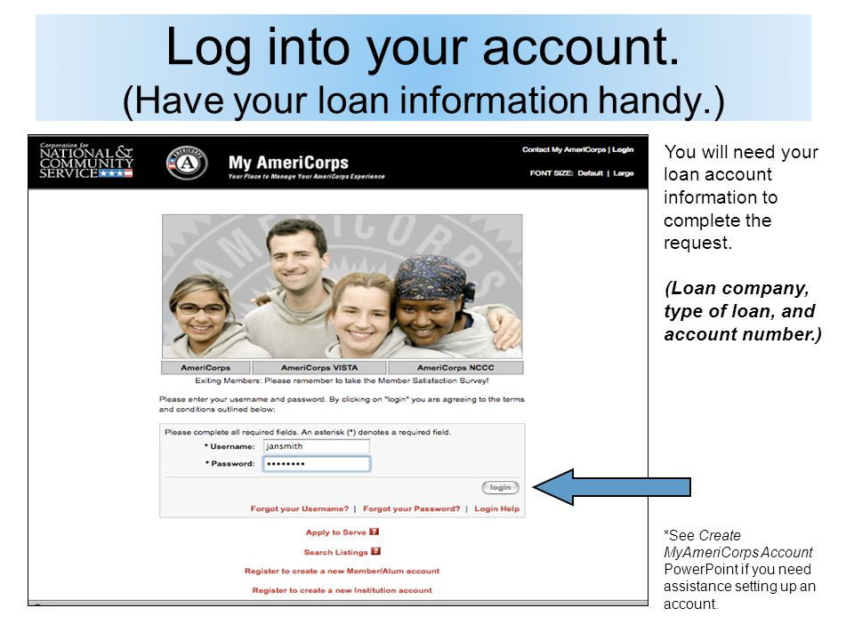Log into your account.