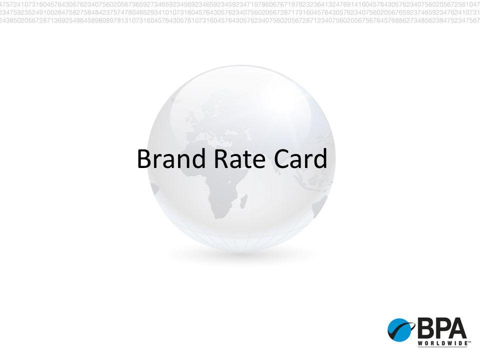 Brand Rate Card