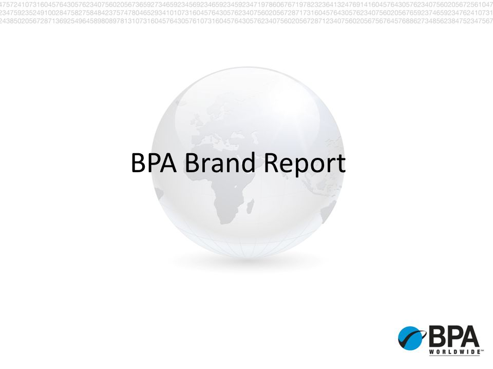 Brand Report First Brand Report was issued in Dec.