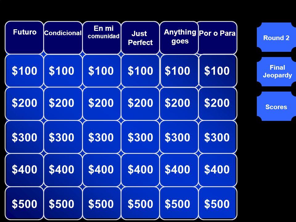 © Mark E. Damon - All Rights Reserved $600 ¿Qué es el veinticinco de diciembre? Scores