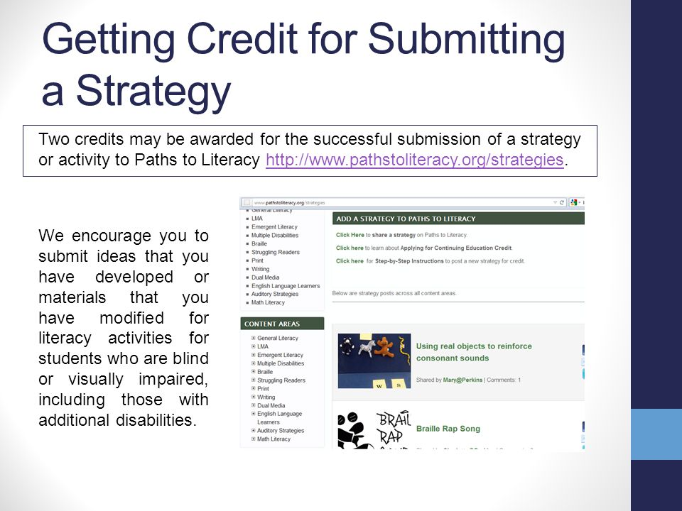 Posting Content In addition to an overview, each of the different content areas includes the following sections: Strategies (Stay tuned to learn how you can get credit for this!) Resources Research Technology You can also post upcoming events and comments, and participate in the forum.