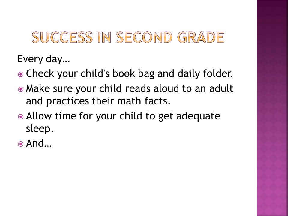 Reading Math Facts Homework Packet