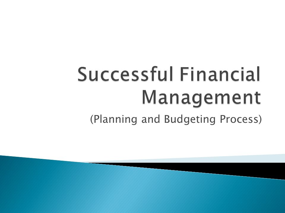 (Planning and Budgeting Process)