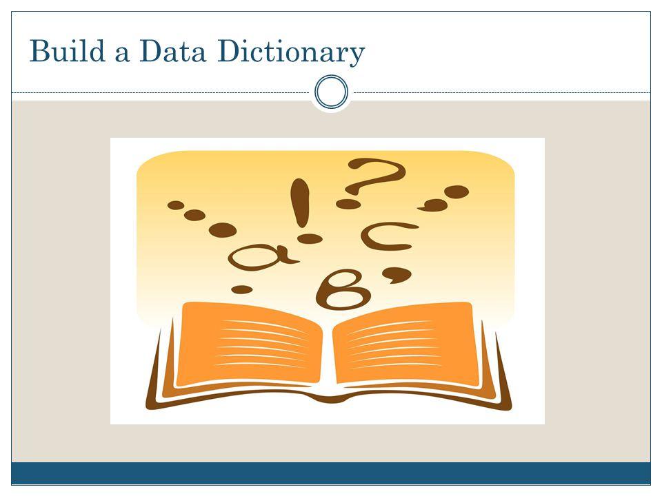 Build a Data Dictionary