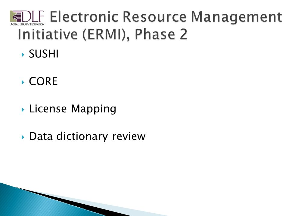 SUSHI CORE License Mapping Data dictionary review
