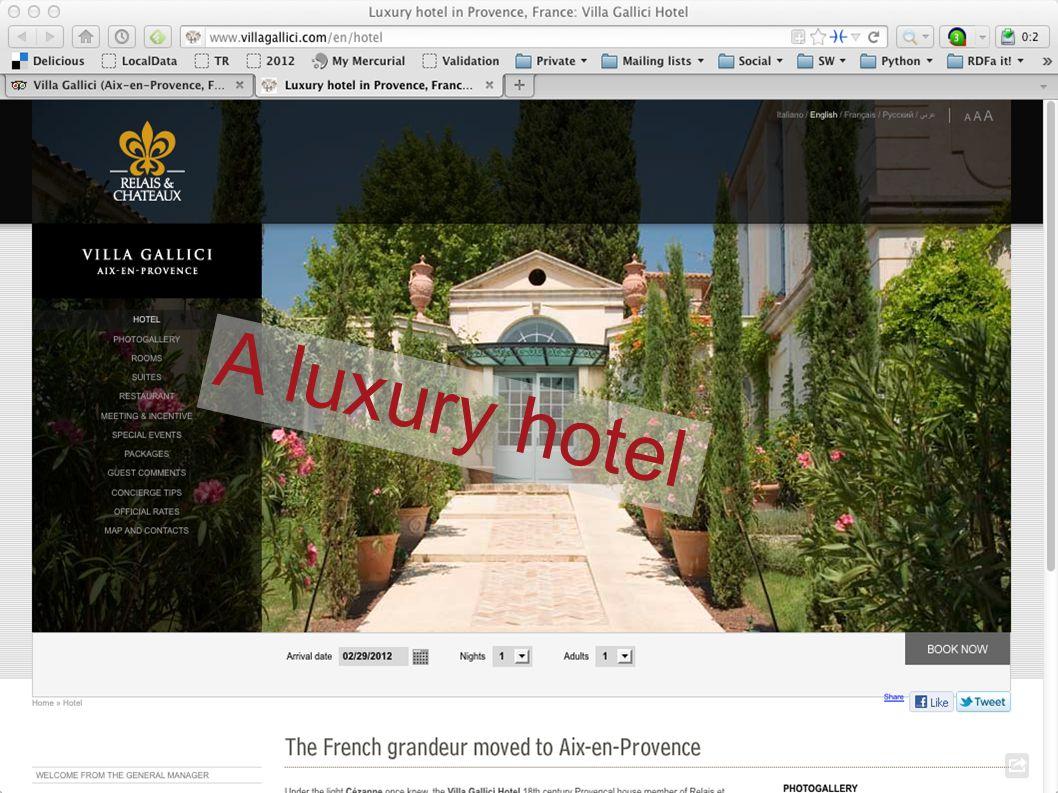 A luxury hotel