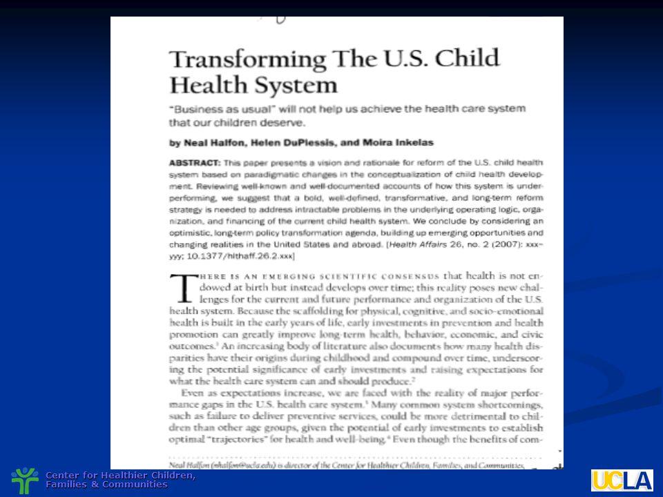 Center for Healthier Children, Families & Communities
