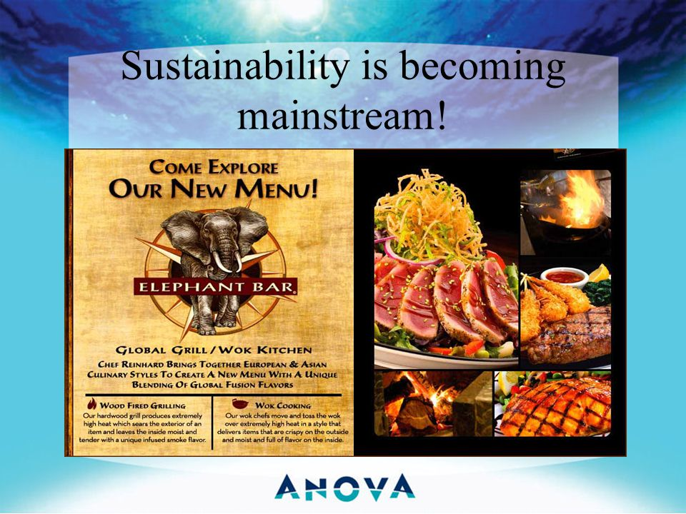 Sustainability is becoming mainstream!