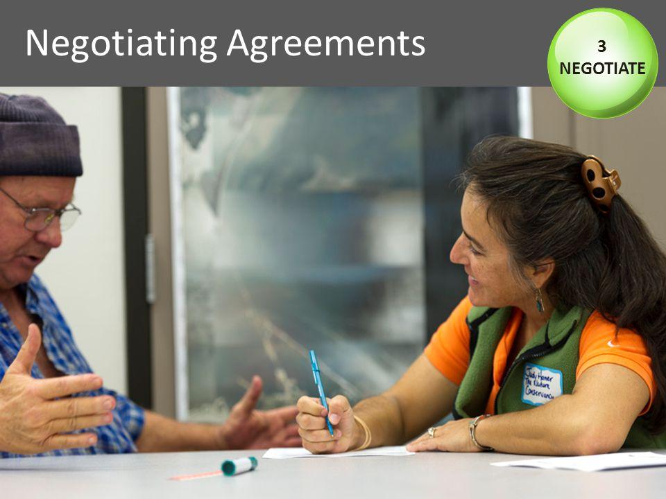 Negotiating Agreements 3 NEGOTIATE