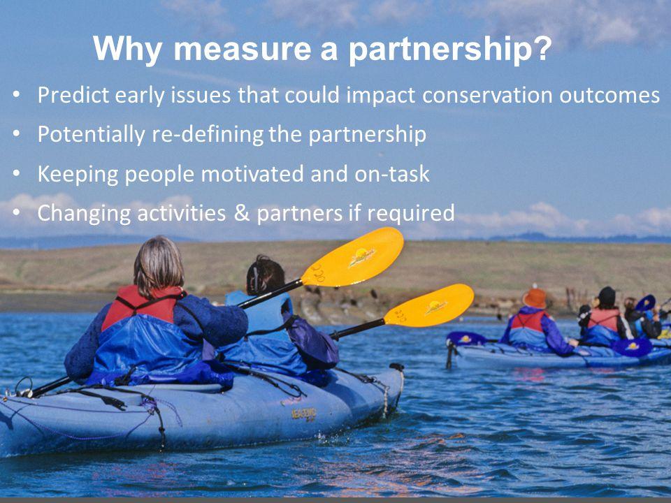 Why measure a partnership.