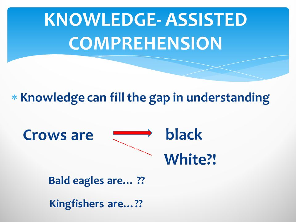 Knowledge can fill the gap in understanding black Crows are White?.