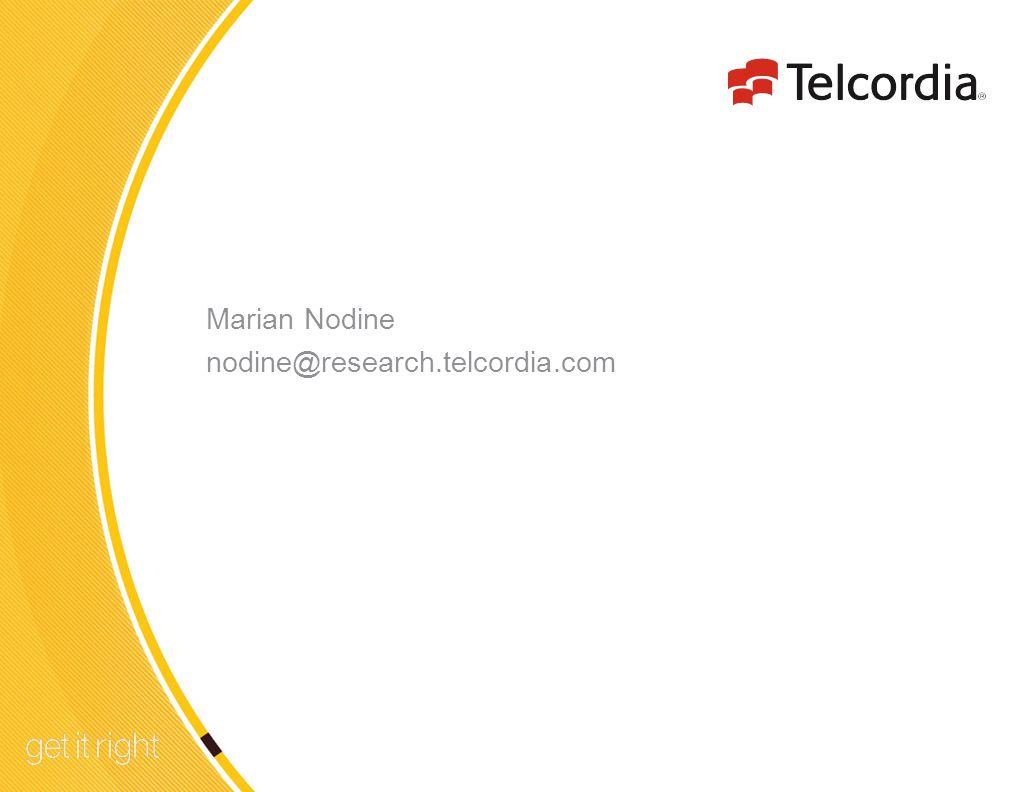 14 Marian Nodine nodine@research.telcordia.com