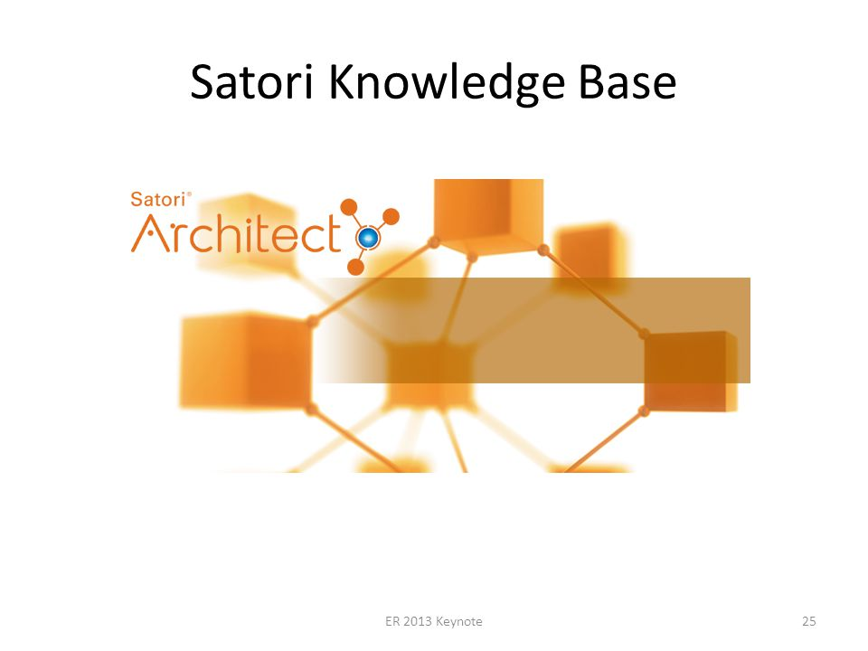Satori Knowledge Base ER 2013 Keynote25