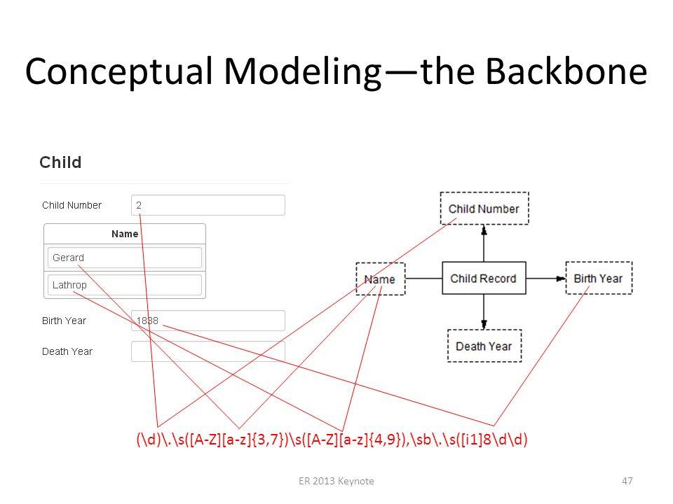 Conceptual Modelingthe Backbone ER 2013 Keynote47 (\d)\.\s([A-Z][a-z]{3,7})\s([A-Z][a-z]{4,9}),\sb\.\s([i1]8\d\d)