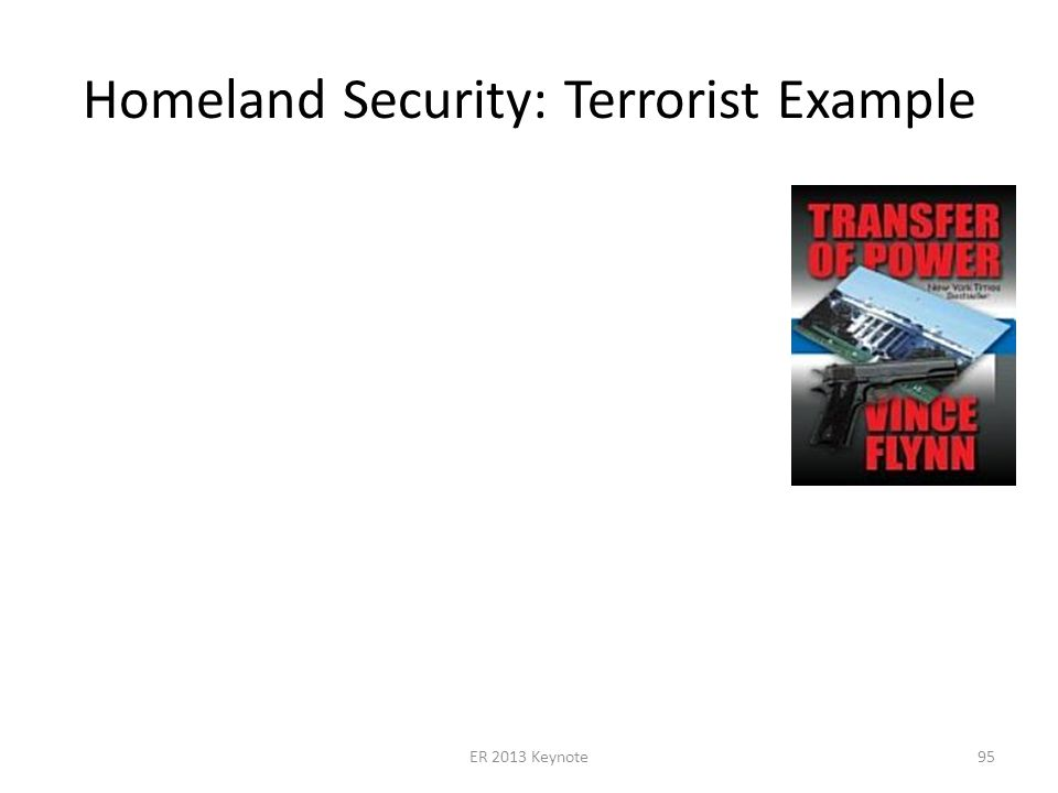 Homeland Security: Terrorist Example ER 2013 Keynote95