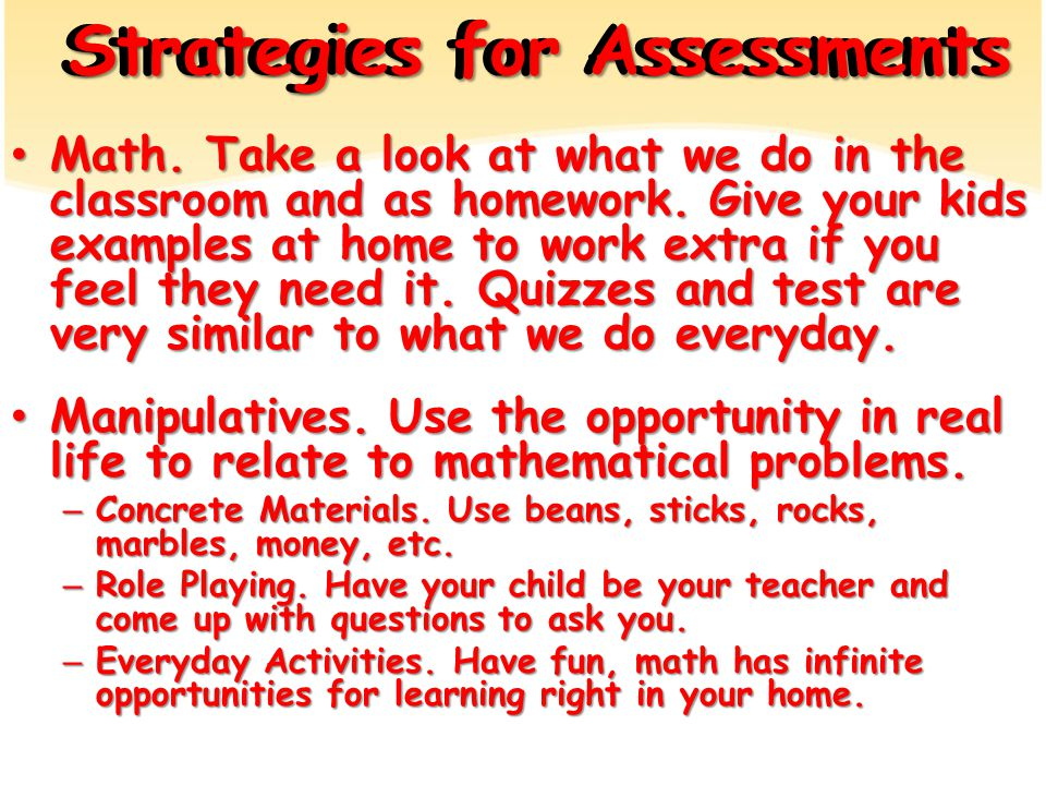 Math. Take a look at what we do in the classroom and as homework.
